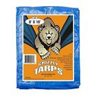 Grizzly Tarps 10 x 14 Feet Blue Multi Purpose Waterproof Poly Tarp Cover 5 Mil T