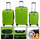 3 Piece Luggage Set Travel Bag Coded Lock  ABS Trolley Spinner Carry On Suitcase