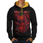 Wounded Heart Art Fashion Men Contrast Hoodie NEW | Wellcoda