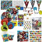 Mighty Marvel Avengers Birthday Party Tableware Superhero Boys Decorations