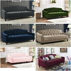 Tufted Sofa Sleeper Convertible love-seat bed Living room furniture Velour Color NEW