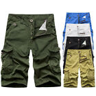 Men's Summer Casual Shorts Trousers Cargo Pants Army Camo Combat Short Pants New