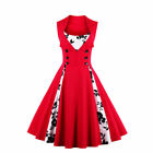 UK Womens Vintage Style 1950s 60s Rockabilly Evening Party Swing Dress Plus Size