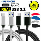 Type-C USB-C 3.1 Male Data Snyc FAST Charger Charging Cable Samsung S9+ S8 Note9