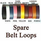 """Bucklebox Handmade Leather Belt Loops For Belts From 12.5mm(½"""") to 50mm(2"""") wide"""