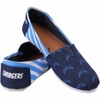 LOS ANGELES CHARGERS WOMENS STRIPED CANVAS SHOES  CHOOSE SIZE $2.49 USD on eBay
