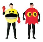 Adult Pac Man Glutton Yellow Ghost 80s 90s Video Game Arcade Fancy Dress Costume