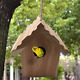 Wooden Cedar Birdhouse Wren Bird Hanging Home House Garden Patio Outdoor photo