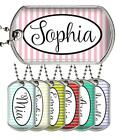 """Custom Your Name Dog Tag on 24"""" Ball Chain Personalized Military Style Dog Tag"""