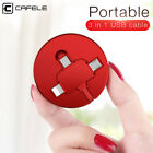 5X Retractable 3 in 1 Micro Type-c Fast Charger USB Data Sync Cable Cord Lot