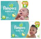 PAMPERS Baby Dry Diapers Size N,  1,  2,  3,  4,  5,  6 -  SELECT SIZE & COUNT