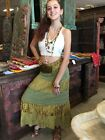 WOMENS LONG SKIRT PRINTED TIERED VINTAGE SARI BOHO GYPSY HIPPY MAXI SKIRTS