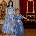 Girls Victorian American Civil War 3pc costume fancy dress pale blue