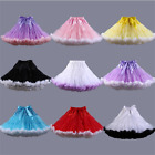 Two colors Dancer wear Tulle TUTU Skirt Cosplay Petticoats Hoops Mini Pettiskirt