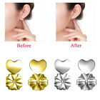 1/2Pairs Magic Earring Back Hypoallergenic Sliver Gold Plated Earrings Ear Nut