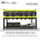 Veddha 6/8 GPU Mining Rig Aluminum Stackable Case Frame ETH/ZEC/Bitcoin Black ZB