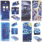 Tardis Doctor Who Design Wallet Leather case for huawei P8 lite p1212