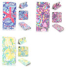 Lilly Pulitzer Design Wallet Leather case for huawei P8 lite p1209