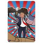 Patriotic Donald Trump with Eagle American Flag Gun Home Business Office Sign