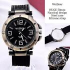 Men Mans Watches with Numbers PU leather Steel case Analog Quartz Wrist watch