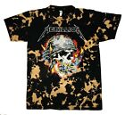 Metallica Bleached New Men Shirt Skull Retro Style Distressed Classic Rock Tee image