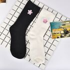 1Pairs Womens Girls Casual Cotton Socks Cherry Blossom Embroidery Socks One Size