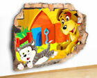 M534 Dog Kitten Play Kids Nursery Canvas Picture Poster Wall Art Stickers Room
