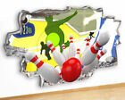 M491 Bowling Fun Cool Living Hall Canvas Picture Poster Wall Art Stickers Room
