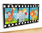 M505 Animals Jungle Vine Kids Cool Canvas Picture Poster Wall Art Stickers Room