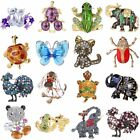 Animal Frog Turtle Elephant Cat Crystal Brooch Pin Women Party Jewellery Gift