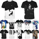 Abstract Artwork Graphic 3D Print Women Mens Casual T Shirt Short Sleeve Tee New