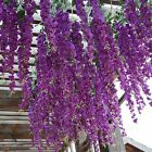 6~24pcs 3.4ft Artificial Wisteria Hanging Flower Vine Silk Wedding Decor Plant