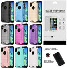Slim Hybrid Dual Layer Case and Glass Screen Protector for Apple iPhone X