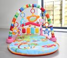 Baby Gym Play Mat Lay & Play 3 in 1 Fitness Music And Lights Fun Piano Pink Girl