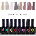 UV/LED Nail Gel Polish Starter Kit 36W UV Lamp 8 Color Gel Nail Polish 10ml