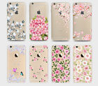 Pretty Floral Roses Flowers Vintage Retro Case Hard Cover iPhone 4 5/s 6/s 7 8 X