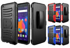 Hybrid Case with Kickstand and Holster Belt Clip for criKet Alcatel Idol 5 6060C