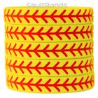Set of SOFTBALL Thread Silicone Wristbands - Wholesale Wrist Band Bracelet Lot