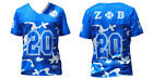 ZETA PHI BETA SORORITY FOOTBALL JERSEY BLUE WHITE CAMOUFLAGE ZETA JERSEY 1920
