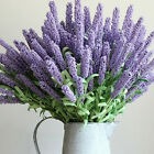 12 Heads Artificial Lavender Flower Leaves Bouquet Home Wedding Garden Decor QY