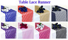 "PACK of 25 Wedding 12"" x 108"" Lace Table Runner Party Venue banquet Decoration"