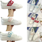 Hot Women Studded Flat Trainers Zip Shoes Plimsills Board Casual Shoes Size Plus