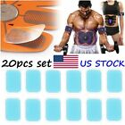 10/20PCS Abs Stimulator Gel Pad Sheet Belt Trainer Fitness Exercise Muscle Toner image