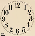 Внешний вид - New 11 to 12 Inch Ivory Paper Clock Dial - Choose Arabic or Roman Numbers!