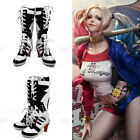 Hot Harley Quinn Cosplay Costume Halloween Batman Boots Suicide Squad Shoes