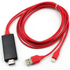 Lightning To HDMI HDTV AV Video Cable Adapter For Apple iPad iPhone 6 7S 8 X