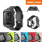 Apple Watch Case Cover Series 1 2 3 Heavy Duty Tough Armor iWatch Band Strap