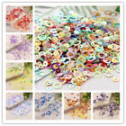 Внешний вид - 5g/10g 6mm Circles Loose Sequins With Golden Tone Paillette DIY Sewing for Dress