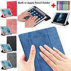 Shockproof Folding Leather Smart Stand Case Cover w/Pencil Holder For Apple iPad