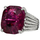 silver ruby - Huge Ruby 925 Silver White Topaz Wedding Engagement Woman Gift Ring Size 6-10